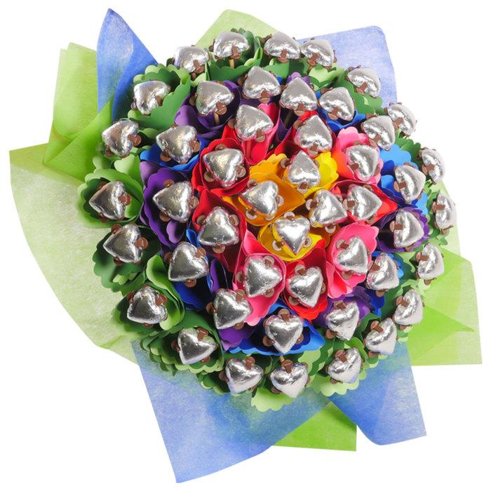 Image of Mothers Day Rainbow Four Dozen Chocolate Bouquet