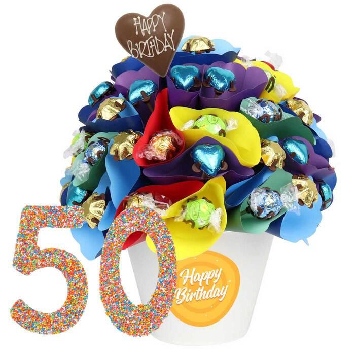 Edible Blooms : 50 Large Birthday Chocolate Bouquet