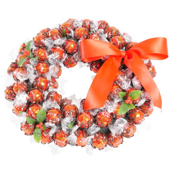 Image of Mothers Day Traditional Red Christmas Wreath