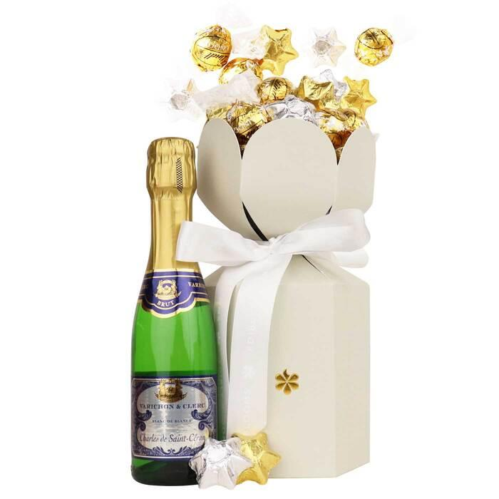 Image of Mothers Day Sparkling and Chocolate Bucket