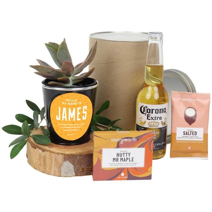 Image of Mothers Day Succulent & Corona Beer Hamper
