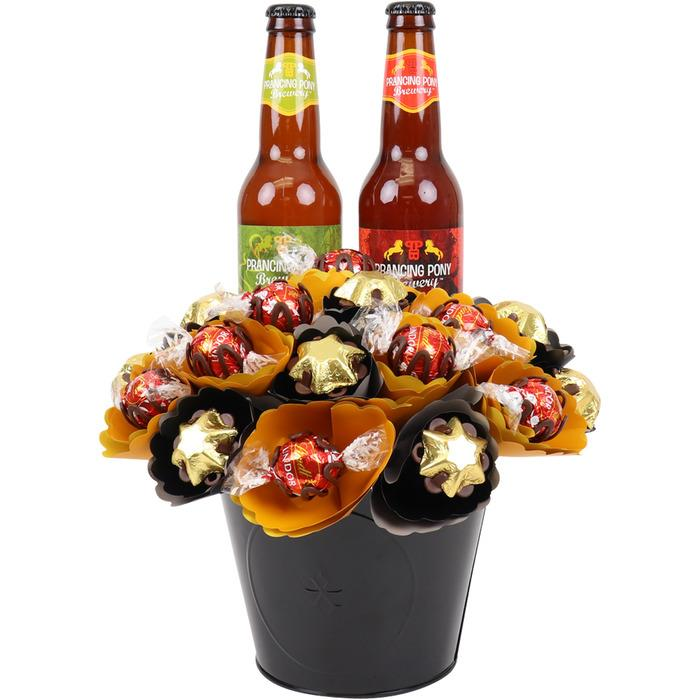 Image of Mothers Day Craft Beer Chocolate Bouquet Medium