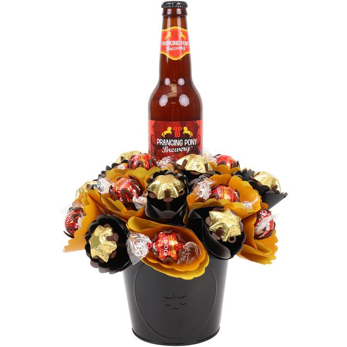 Image of Mothers Day Craft Beer Chocolate Bouquet Small