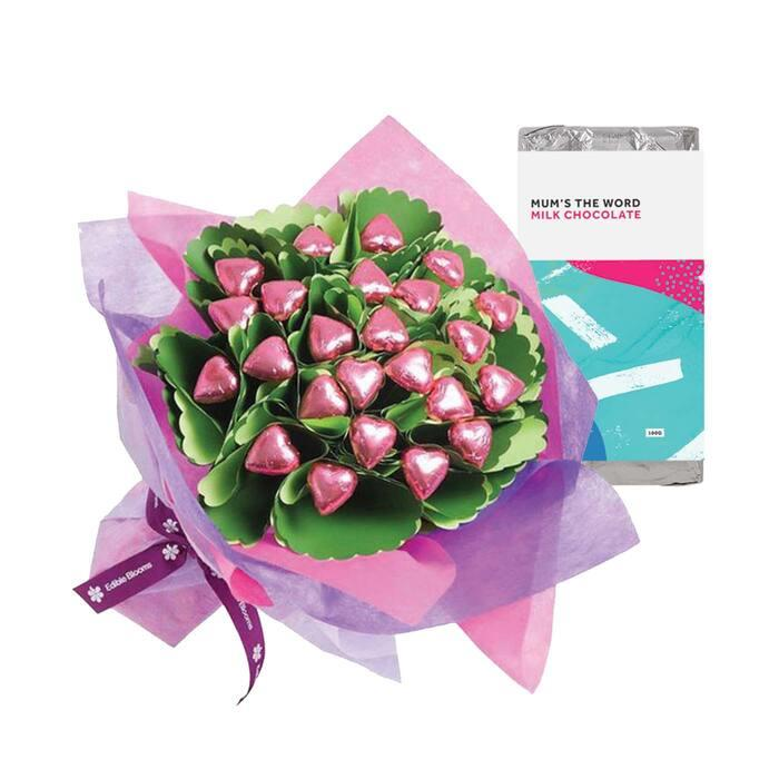 With Love Mother's Day Posy & Choc Block