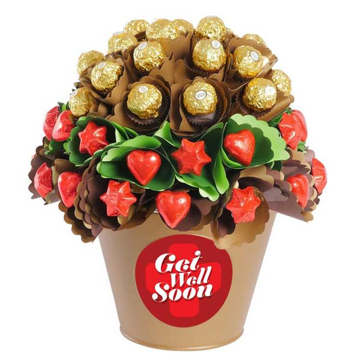 Image of Mothers Day Get Well Rose Garden Large Chocolate Bouquet