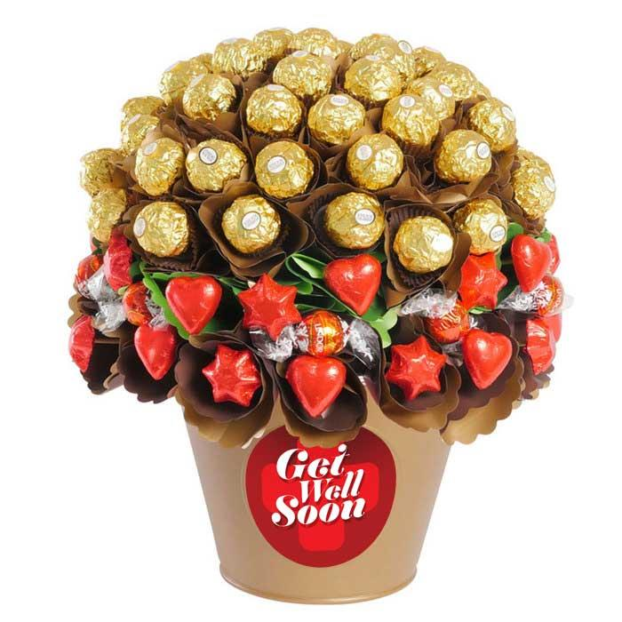 Image of Mothers Day Get Well Rose Garden Luxury Chocolate Bouquet