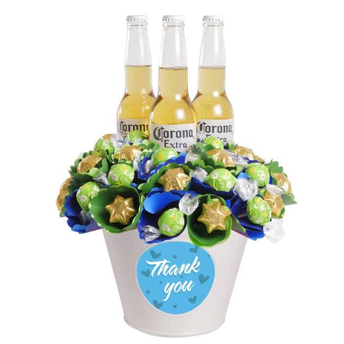 Image of Mothers Day Thank You Corona Chocolate Bouquet Large