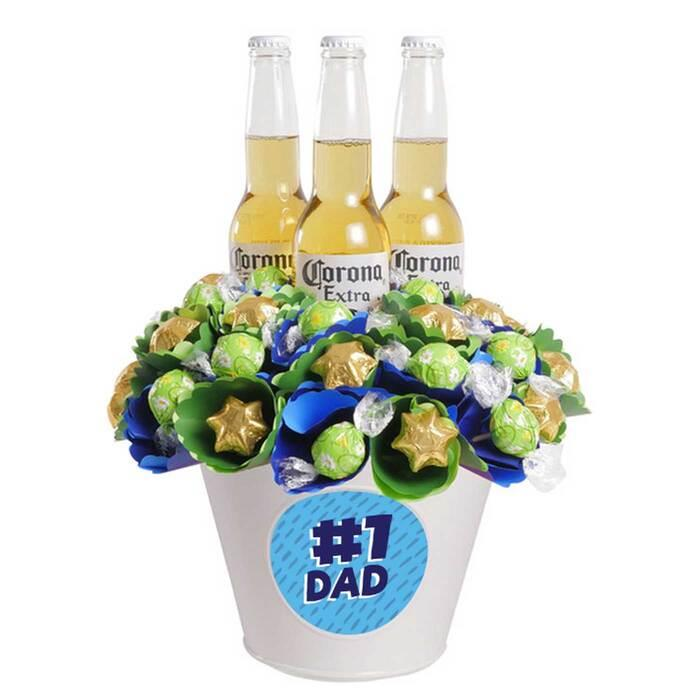 Image of Mothers Day #1 Dad Corona Chocolate Bouquet Large