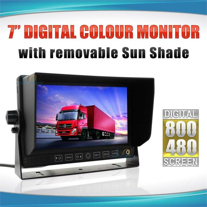 "Image of 7"" Monitor HD 12V/24V with 3 AV inputs 4PIN advanced"