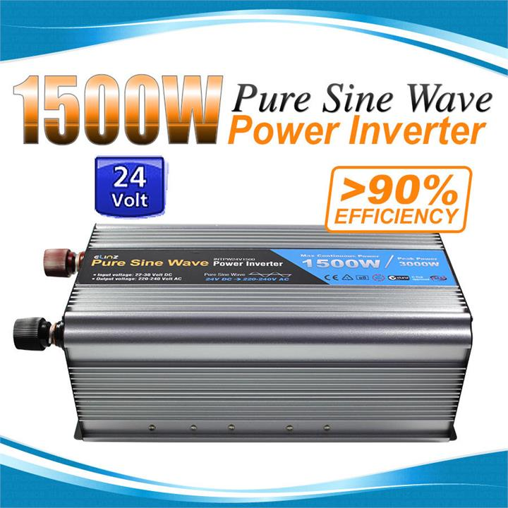 Image of Pure Sine Wave Power Inverter 1500w/3000w 24v - 240v AUS plug Truck Car Caravan