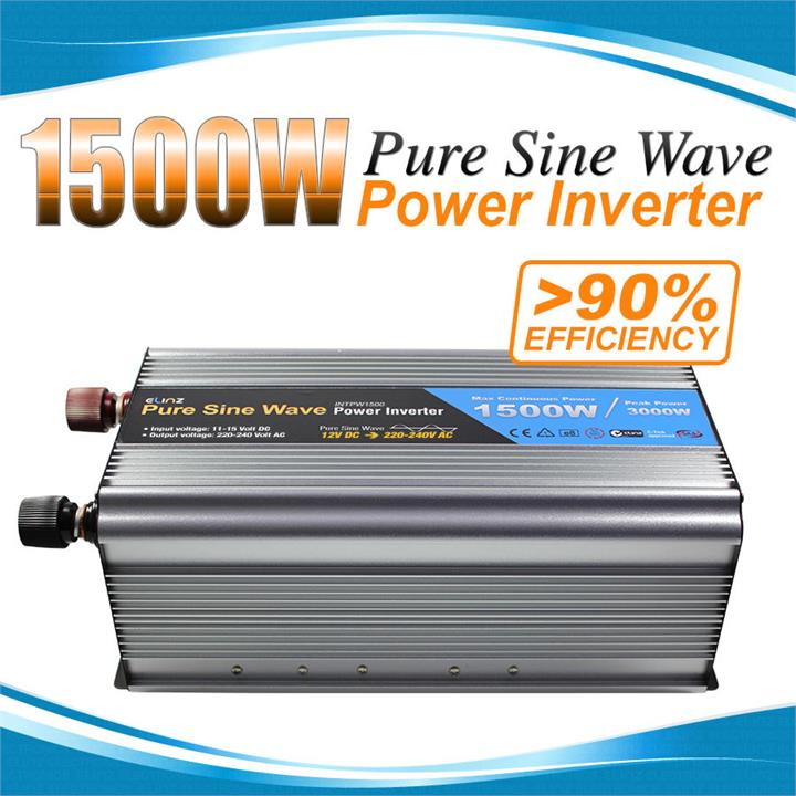 Image of Pure Sine Wave Power Inverter 1500w / 3000w 12v - 240v AUS plug Car Boat Caravan
