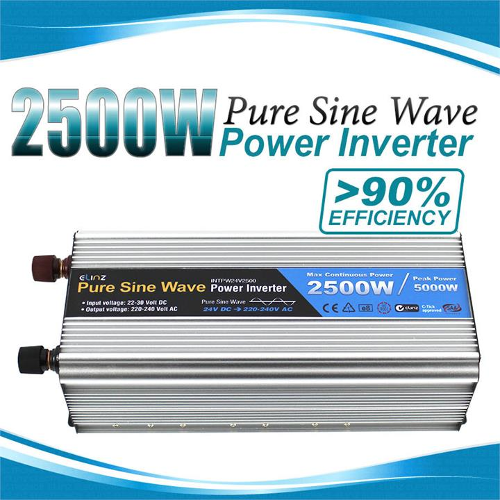 Image of Pure Sine Wave Power Inverter 2500w / 5000w 12v - 240v AUS plug Car Boat Caravan