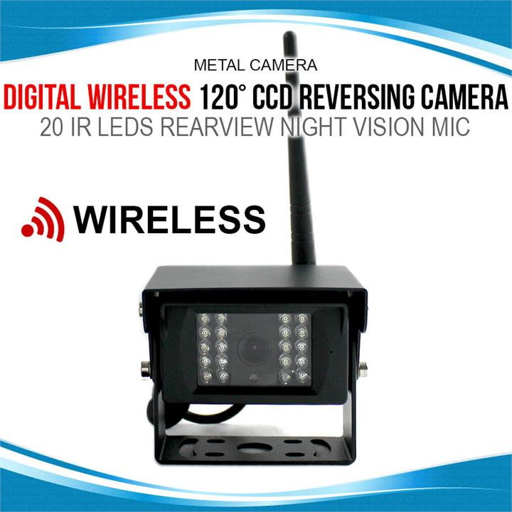 Image of Digital Wireless 120 CCD Reversing Camera 20 IR LEDS Rearview Night Vision Mic