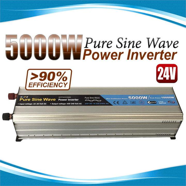 Image of Pure Sine Wave Power Inverter 5000w/10000w 24v - 240v AUS plug Truck Car Caravan
