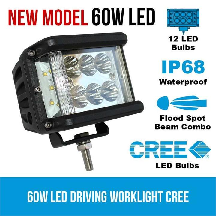 Image of 60W LED Driving WorkLight CREE Flood Spot Beam 12V 24V Truck Lamp Light Offroad