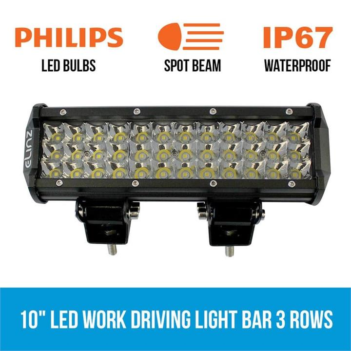 "Image of 10"" LED Work Driving Light Bar 3 Rows Philips Spot Offroad 12V 24V Truck 4WD"
