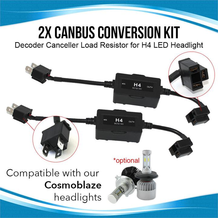 Image of 2x Canbus Conversion Kit Decoder Canceller Load Resistor for H4 LED Headlight