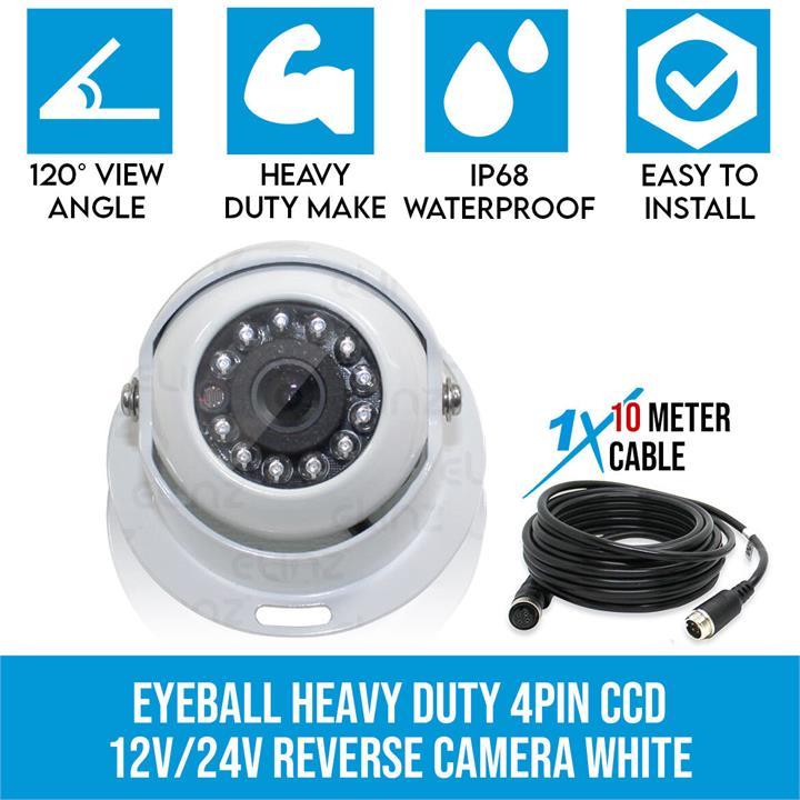 Image of 4 PIN Heavy Duty Caravan CCD IR Colour Reversing Camera