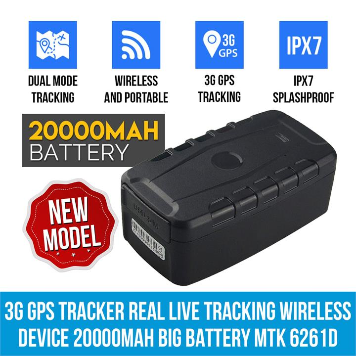Image of Elinz 3G GPS Tracker Real Live Tracking Wireless Device 20000mAh Big Battery MTK 6261D