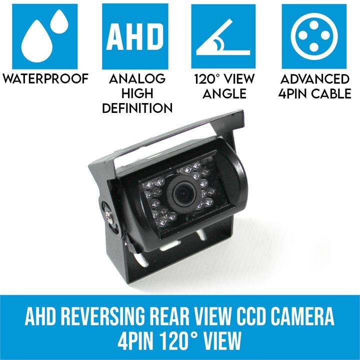 Image of AHD Reversing Rear View CCD Camera 4PIN Night Vision Car Truck Caravan 120 View