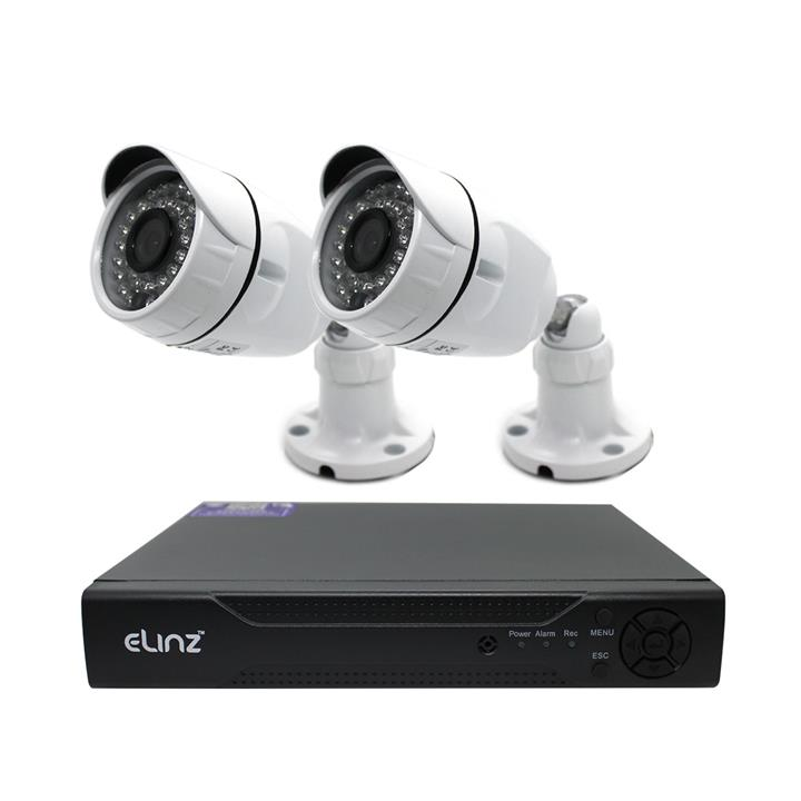 Image of 4CH CCTV Security 2x Camera System 1080P 5MP DVR AHD Face Detection Video