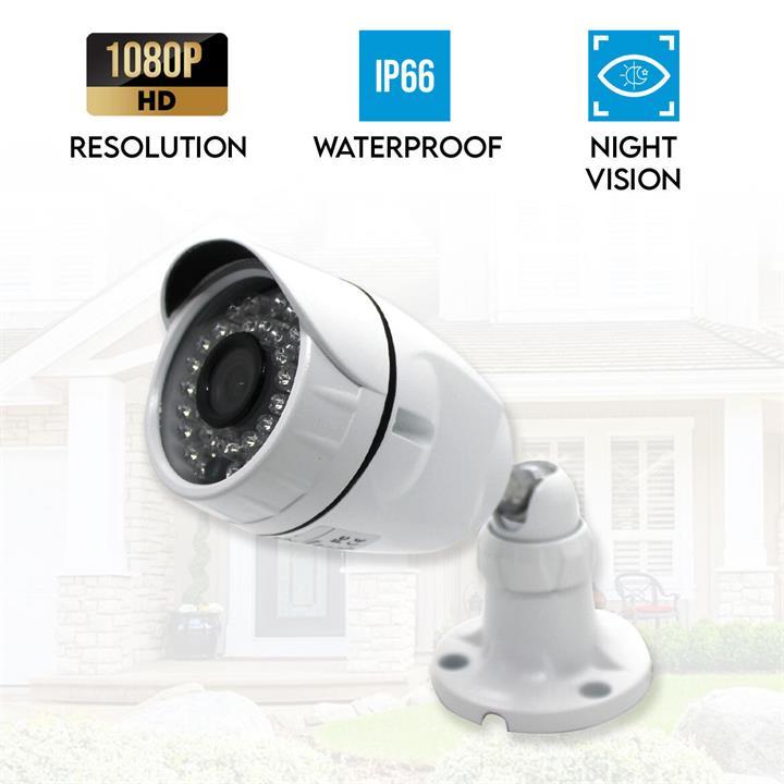 Image of Elinz 1080P HD 2.0MP AHD Outdoor Bullet CCTV Surveillance Security Camera Night Vision