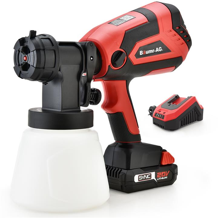BAUMR-AG SG3 20V SYNC Cordless Paint Sprayer Gun Kit with Battery and Fast Charger