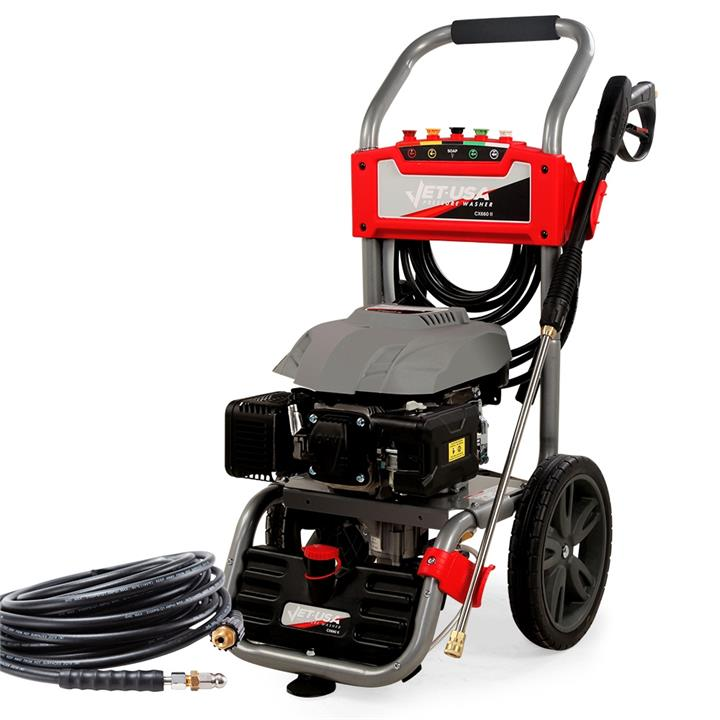 PRE-ORDER JET-USA Petrol-Powered High Pressure Cleaner Washer w/ 30m Hose Reach and Drain Cleaner - CX660