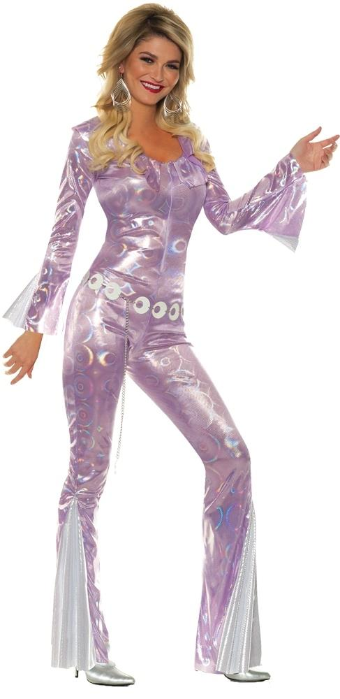 70s Disco Fashion: Disco Clothes, Outfits for Girls Purple Disco Diva Adult Costume $69.95 AT vintagedancer.com