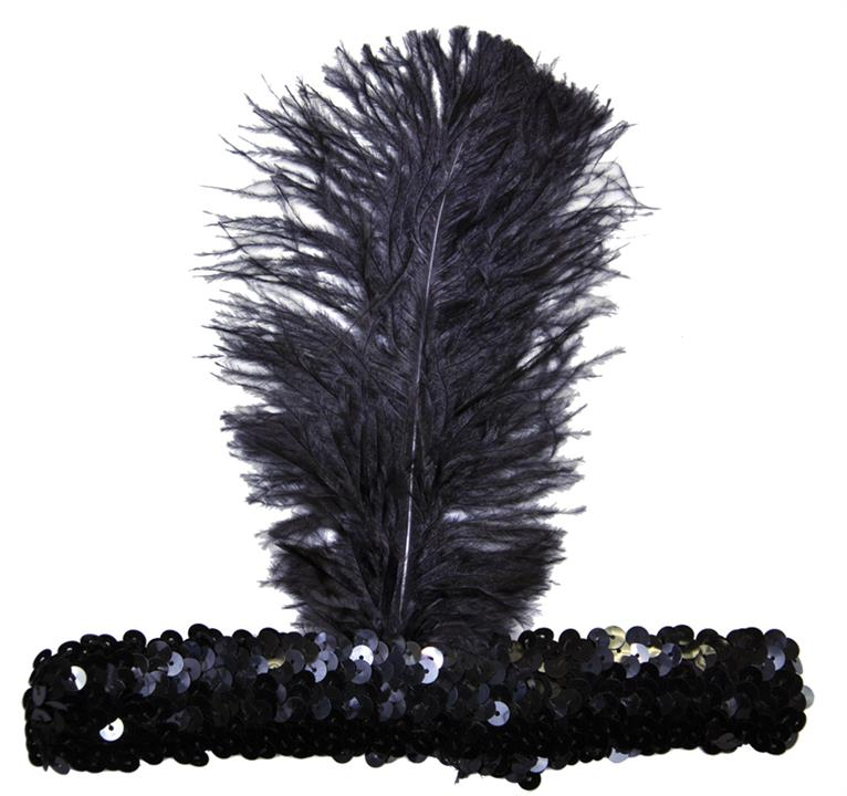 1920s Flapper Dresses, 20s Costumes in Australia 1920s Flapper Stretch Sequin Headband Costume Accessory Black $15.95 AT vintagedancer.com