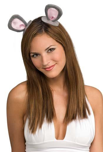 Mouse Ears On Clips Adult Costume Party Accessory