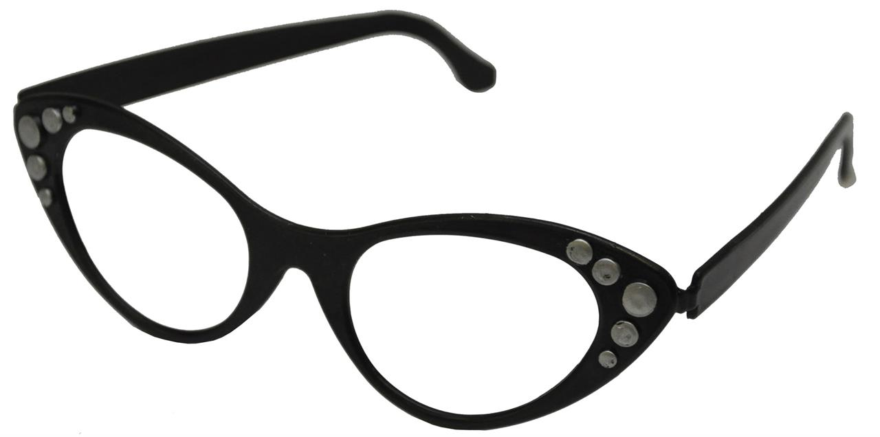 1950's Cats Eye Glasses Greaser Retro Women's Costume Accessory