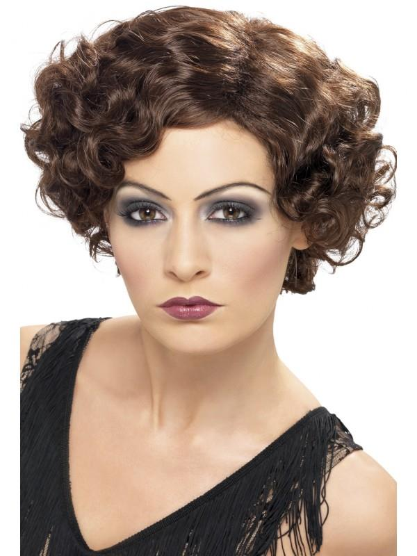 1920s Flapper Dresses, 20s Costumes in Australia Brown 20s Flirty Flapper Adult Wig $24.95 AT vintagedancer.com