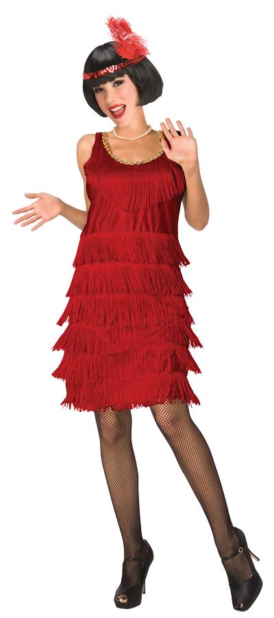 1920s Flapper Dresses, 20s Costumes in Australia Red 1920s Flapper Adult Womens Costume $82.95 AT vintagedancer.com