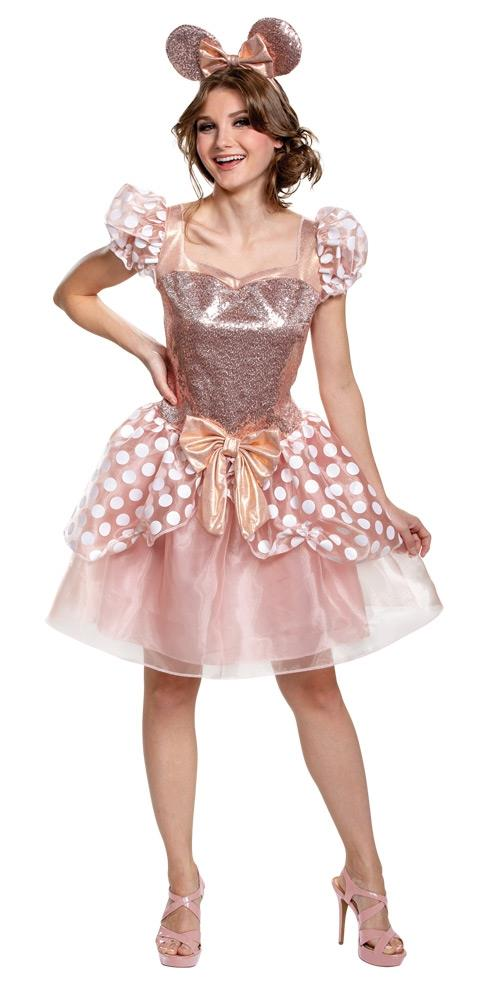 Minnie Mouse Rose Gold Deluxe Adult Costume