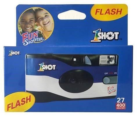 Image of Camera House 1SHOT Fun Shooter Flash ISO 400 35mm 27 Exposure Single Use Film Camera