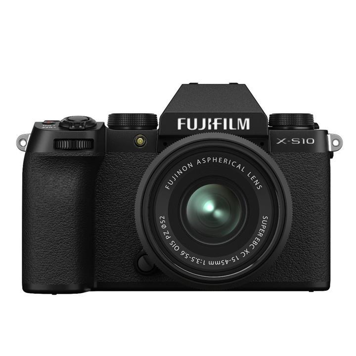 Image of Fujifilm X-S10 Body - Black w/ XC15-45mm Lens