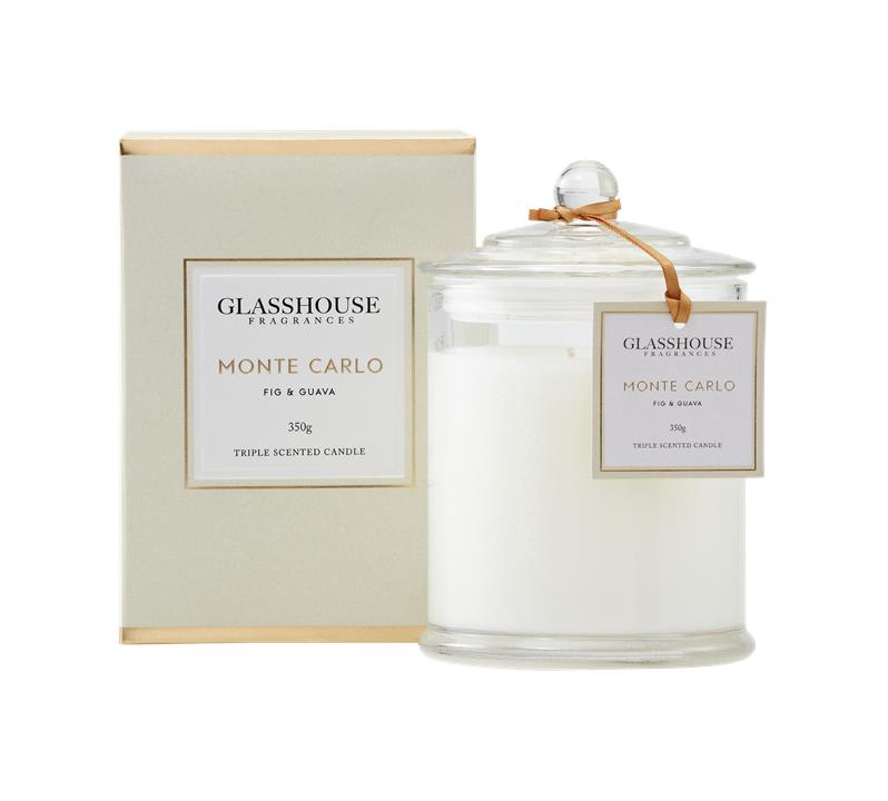 Glasshouse Fragrances Monte Carlo Fig & Guava Candle (350g)