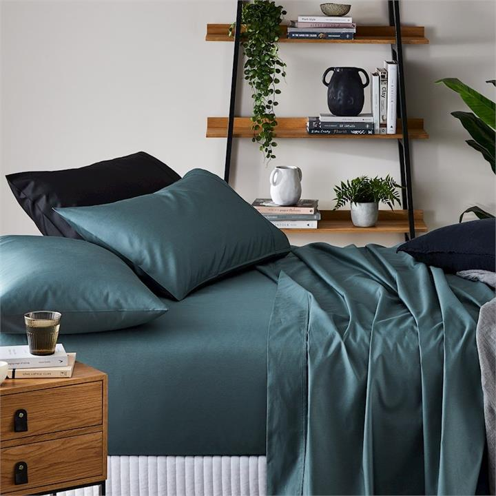 Metro 1500TC Brooklyn Separates Azure Fitted Sheet By Adairs
