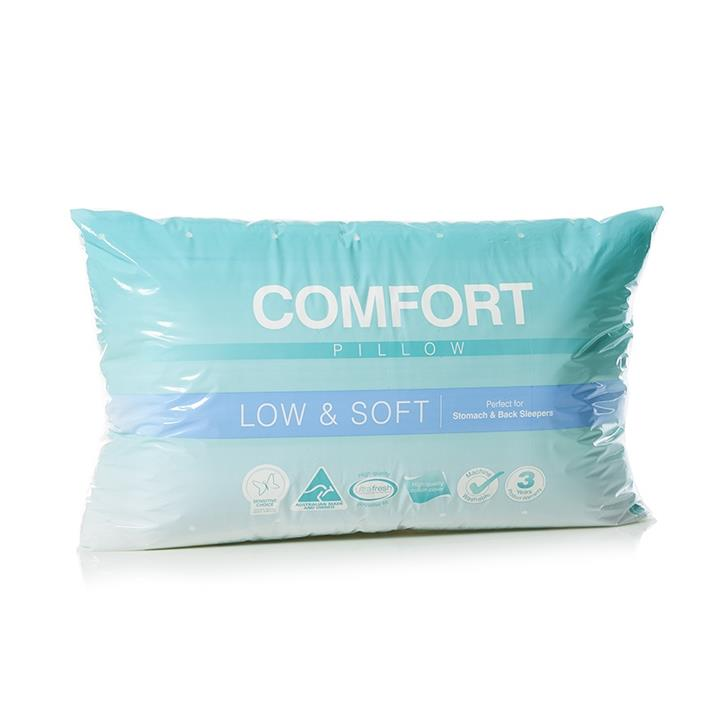 Adairs Comfort Comfort Low Soft Pillow - White