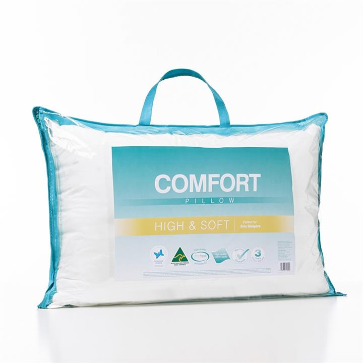 Adairs Comfort Comfort High Soft Pillow - White