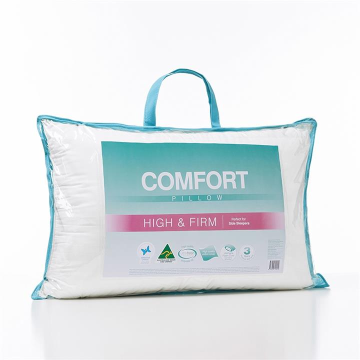 Adairs Comfort Comfort High Firm Pillow - White