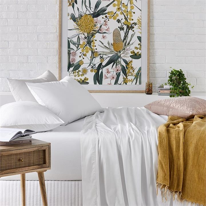 Worlds Softest Cotton Sheets 500TC Pima Cotton World's Softest Cotton Sheets - White By Adairs