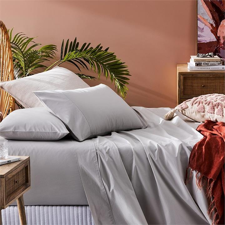 Fresh by Home Republic Fresh Separates King Single Cloud Grey Fitted Sheet