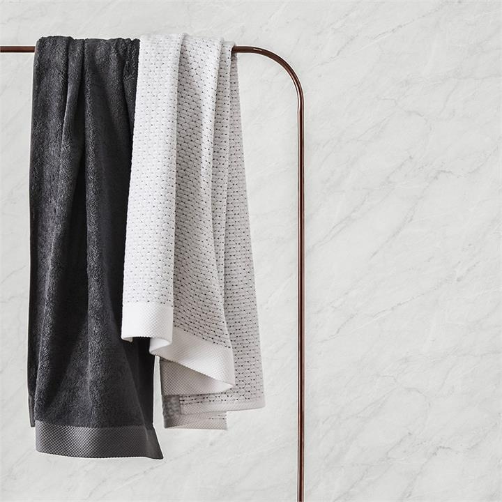 Home Republic Navara Cotton Bamboo Towels Hand Towel Solid Coal - Solidcoal By Adairs
