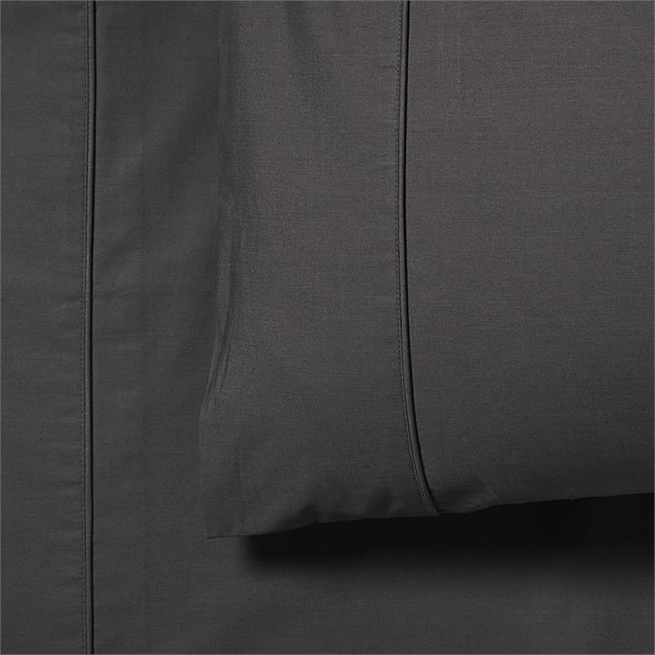 Fresh by Home Republic Fresh Separates Single Coal Fitted Sheet By Adairs