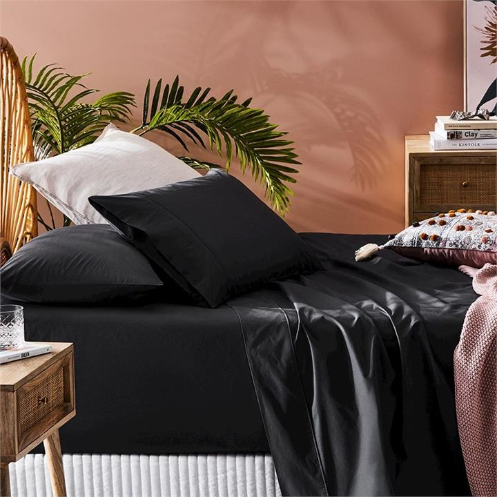 Fresh by Home Republic Fresh Separates King Coal Fitted Sheet By Adairs