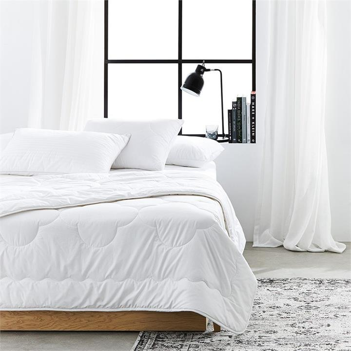 Downtime Australian Washable Wool Quilt Single - White