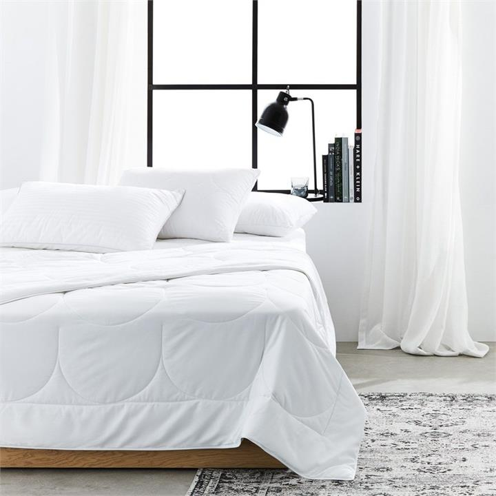 Downtime Bamboo Quilt King - White By Adairs