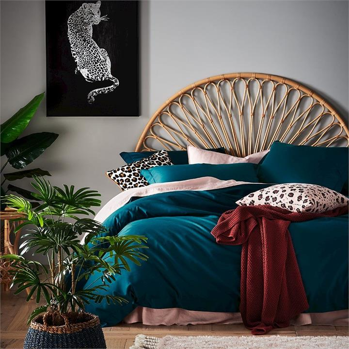 Home Republic 600TC Bamboo Cotton Peacock Quilt Cover By Adairs